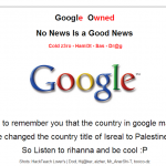 Google Palestine domain owned by Hackers and defaced