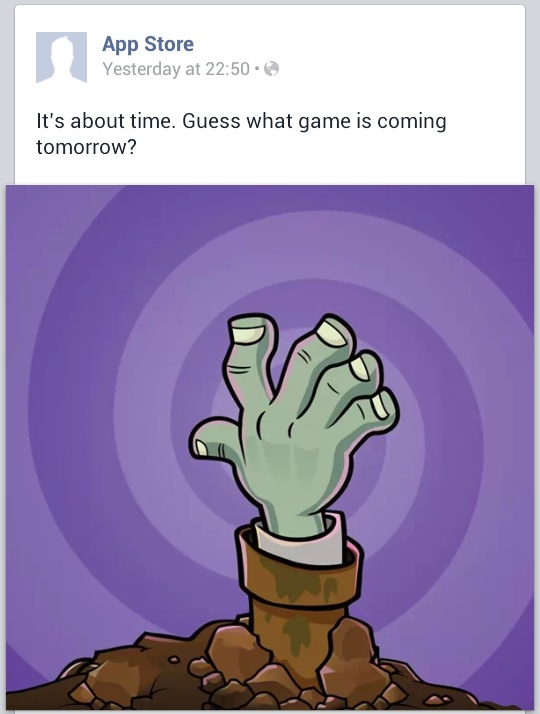 App store s facebook page leaves little doubt about the release