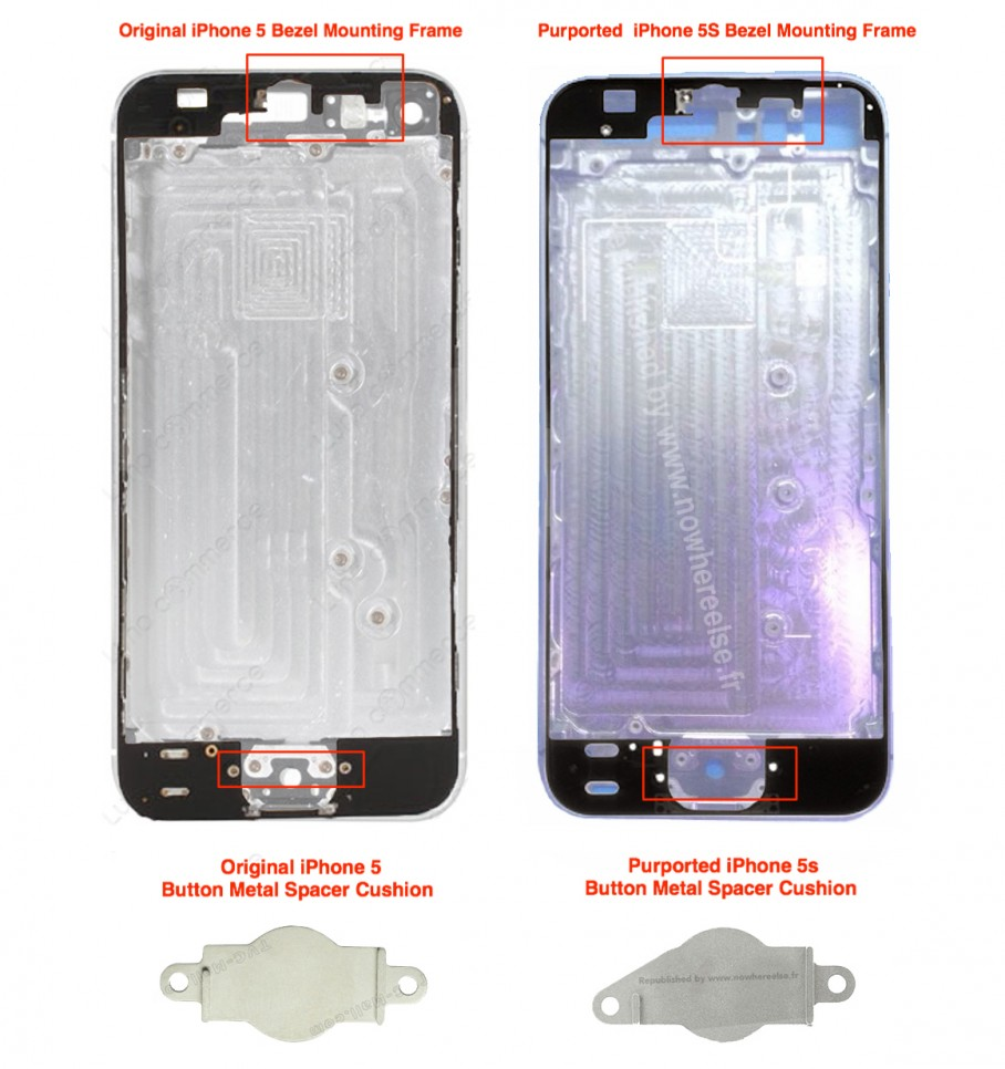 iphone 5 compared to iphone 5s iphone 5s changes compared in newly leaked back panel images 19302