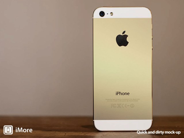 iPhone 5S with less Gold and more towards Champagne