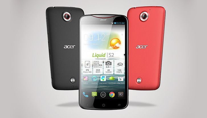 Acer Liquid S2 6inch phablet with 4K recording