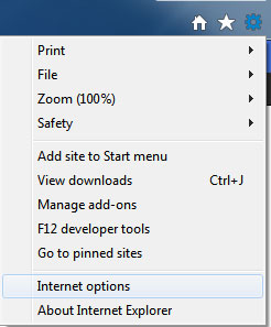 How to clear browser data in Internet Explorer-IE9