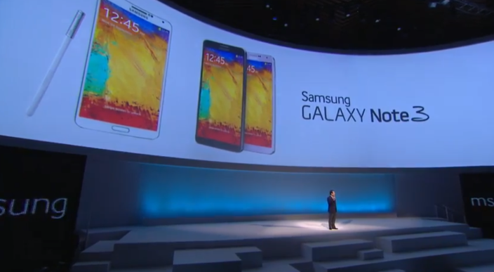 Samsung unveils Galaxy Note 3