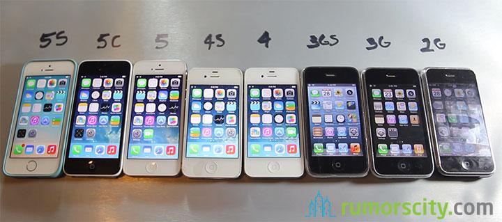 iPhone 5S vs iPhone 5C vs iPhone 5 vs iPhone 4S vs iPhone ...