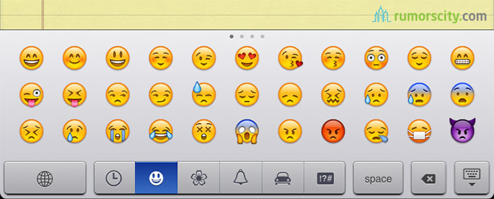 Smileys in sms