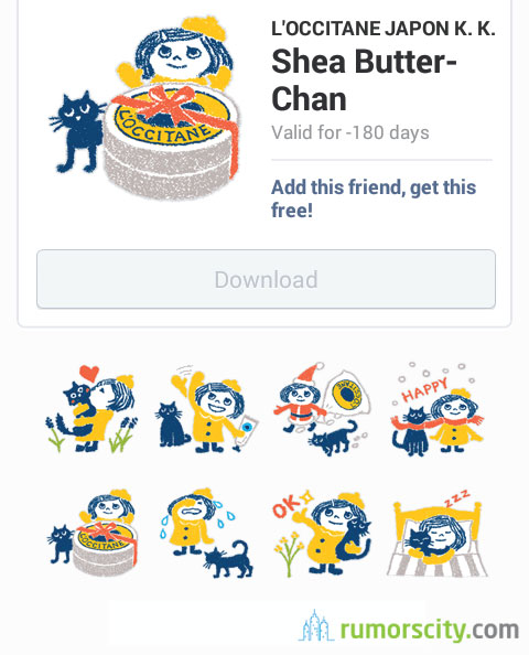 Shea-Butter-Chan-Line-sticker-in-Japan-01