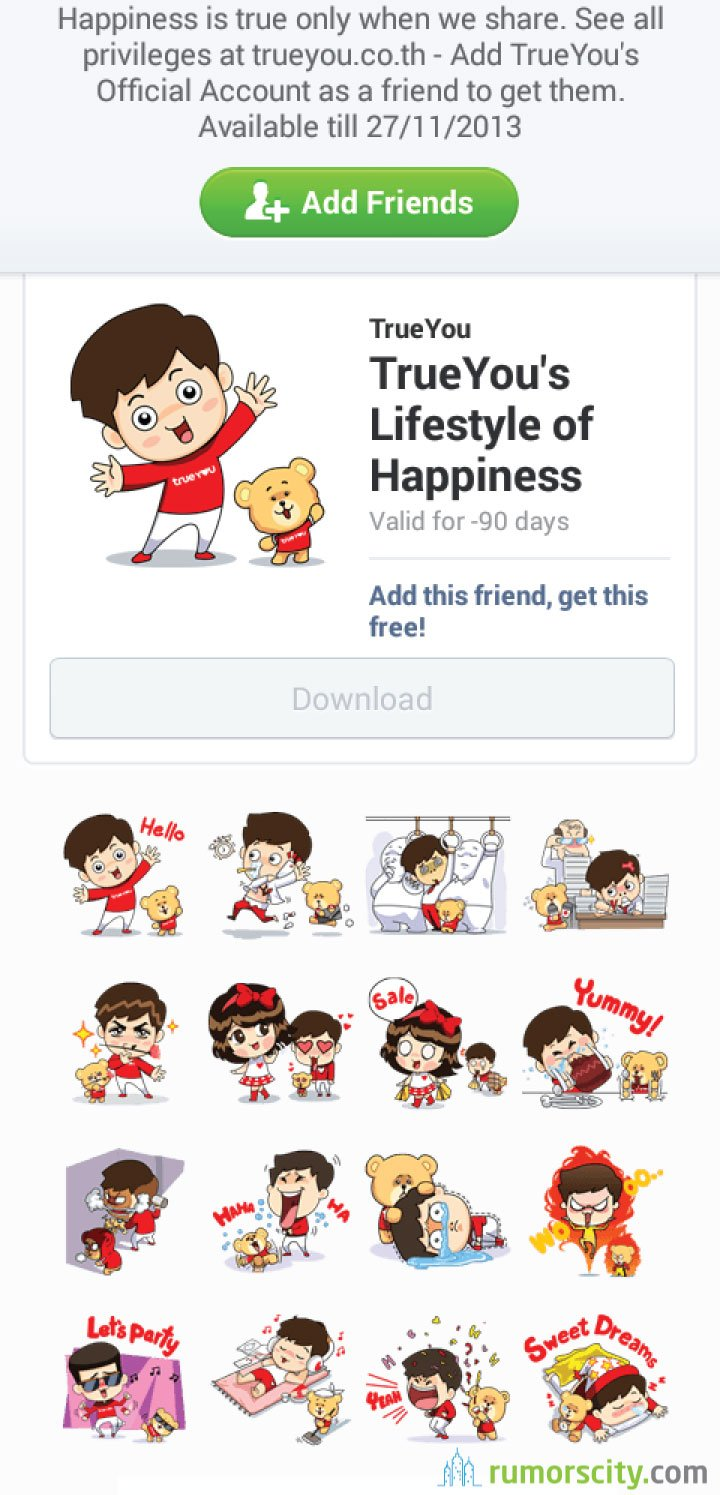 TrueYou's-Lifestyle-of-Happiness-Line-sticker-in-Thailand-02