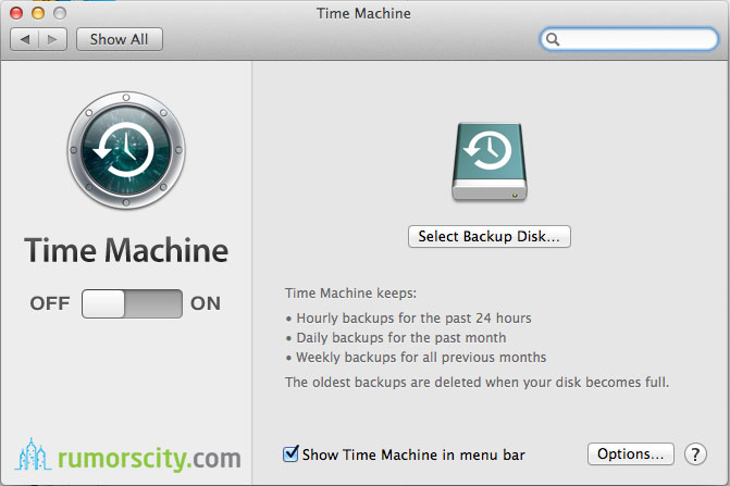 factory reset time machine