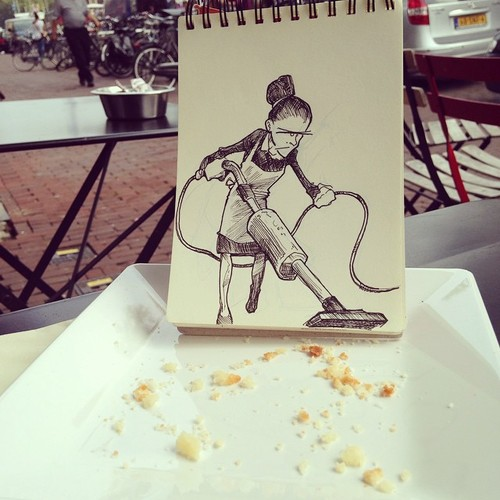 Illustrator Creates Stunning Doodles That Interact With Their Surroundings-02