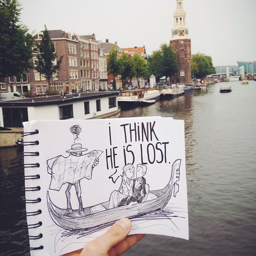 Illustrator Creates Stunning Doodles That Interact With Their Surroundings-03