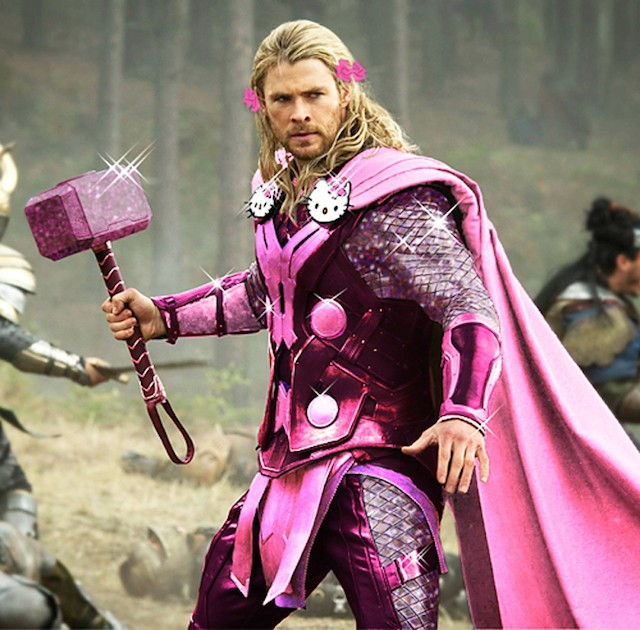 Superheroes With A Hello Kitty Makeover This is Hilarious-01