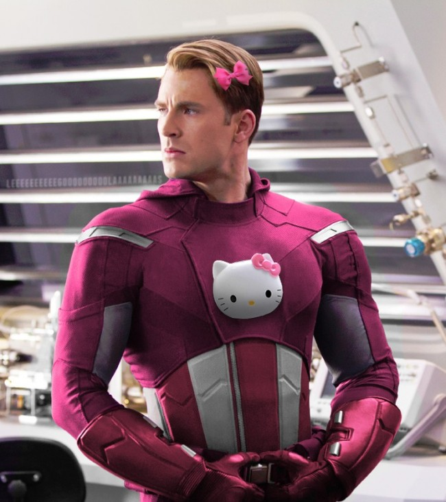 Superheroes With A Hello Kitty Makeover This is Hilarious-09