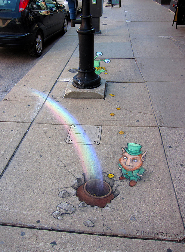 This Man Made The City More Colorful With Chalk Art-10