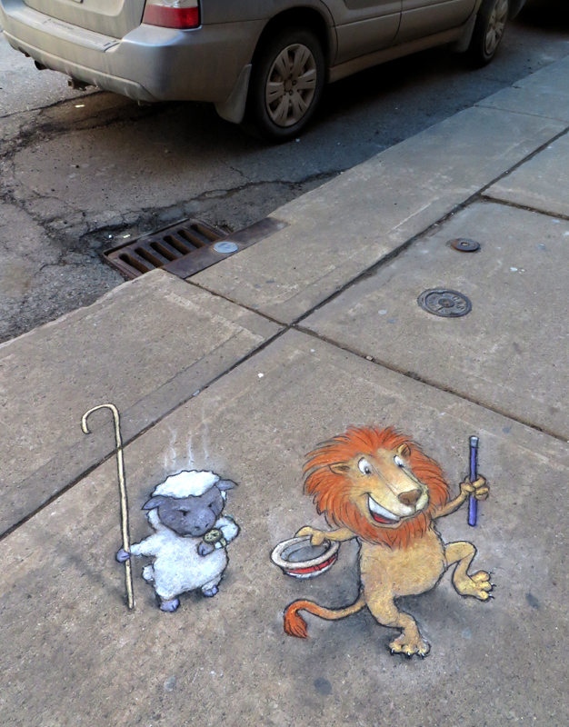This Man Made The City More Colorful With Chalk Art-15