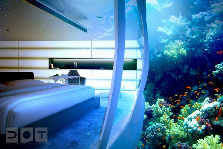 Explore The Underwater World From The Comfort Of Your Bedroom In This Underwater Hotel-07
