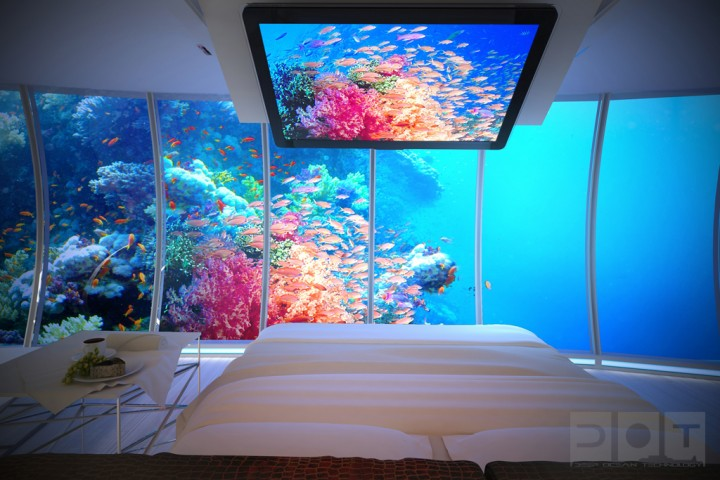 Explore The Underwater World From The Comfort Of Your Bedroom In This Underwater Hotel-09