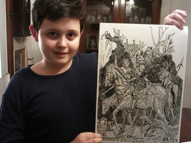 This 11 Year Old Boy Creates The Most Awesome And Detailed Drawings You Have Ever Seen-05