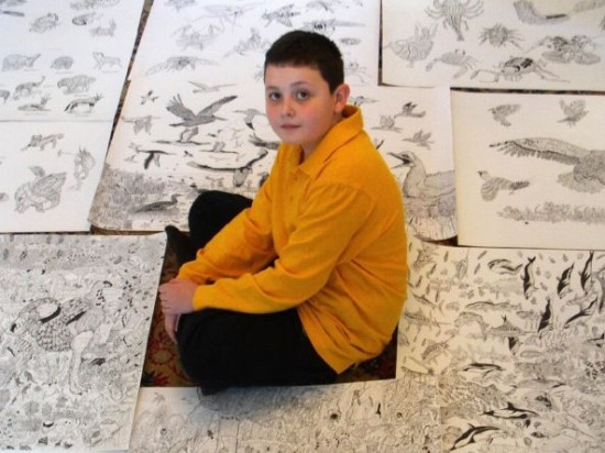 This 11 Year Old Boy Creates The Most Awesome And Detailed Drawings You Have Ever Seen-07