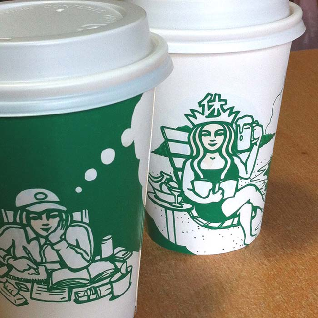 This Guy Has A Range Of Starbucks Cup Collection You Will Be Amazed At What He Did With Them-07