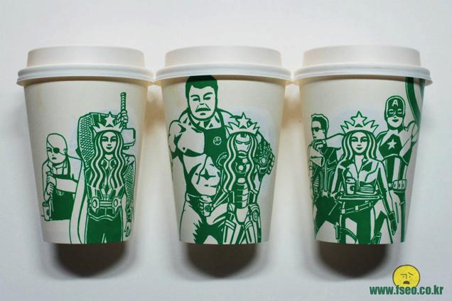 This Guy Has A Range Of Starbucks Cup Collection You Will Be Amazed At What He Did With Them-17
