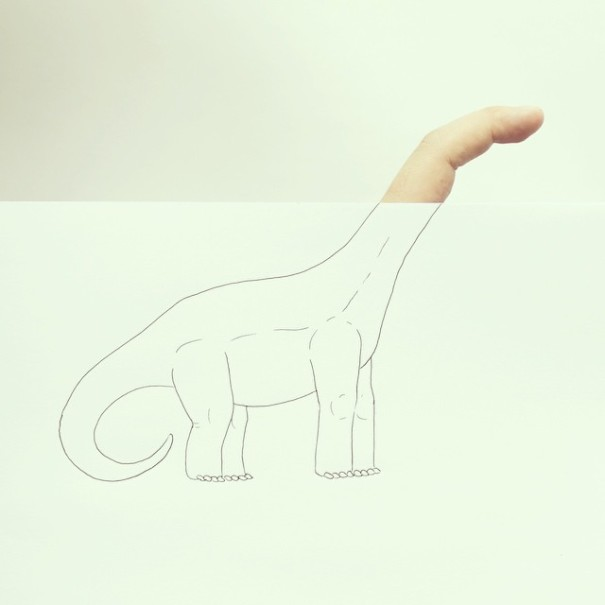 Artist Completes Drawings By Adding In His Own Fingers-03