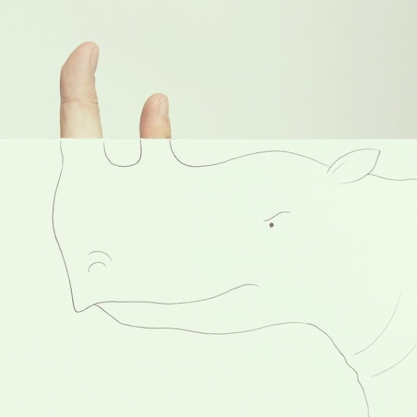 Artist Completes Drawings By Adding In His Own Fingers-06