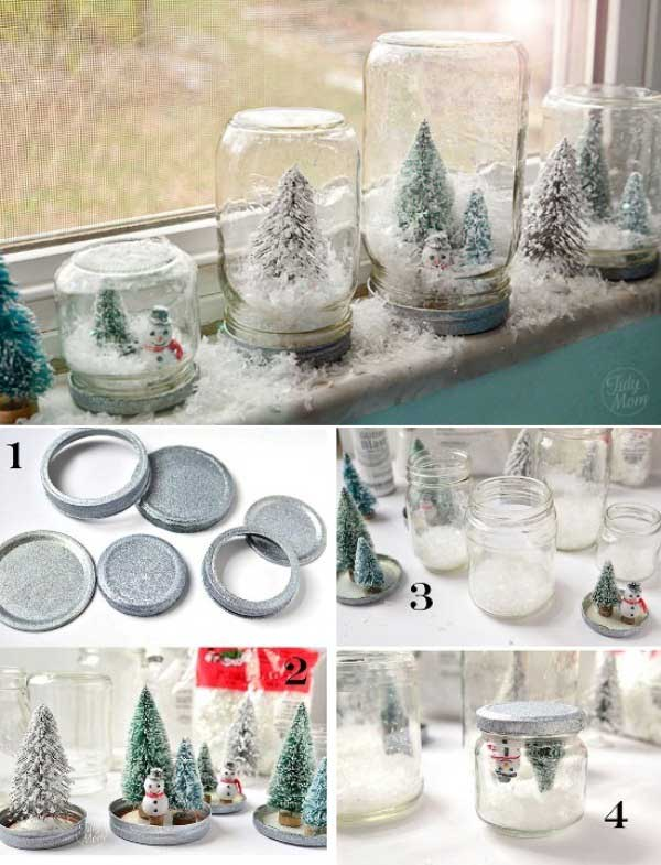Snow Globe Christmas Tree Decorations