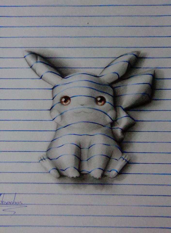 This 15-Year-Old Sketches Actually Look Like 3D Images Amazing-05