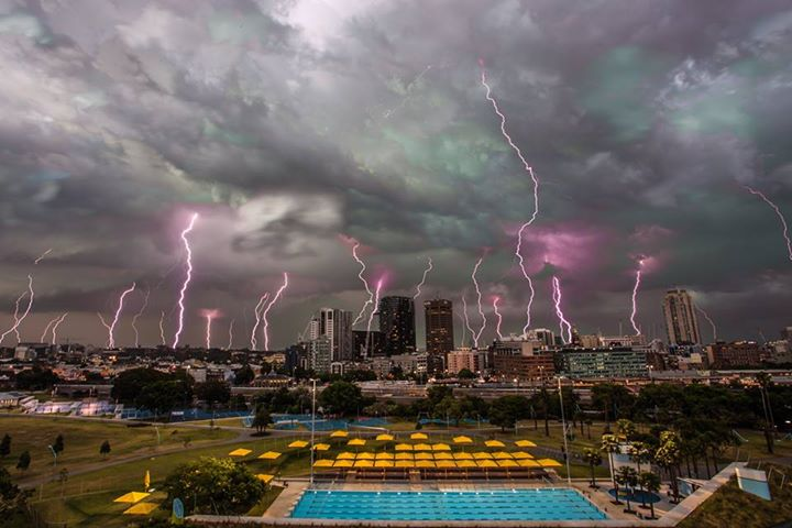 The Skyline Of Sydney Is Filled With Lightning Strikes On Wednesday