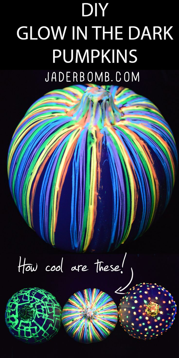 12 magical glow in the dark diy projects for Glow in the dark paint for real pumpkins