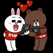 TrueMove H Fun Fest with Brown & Cony Line Sticker - Rumors City