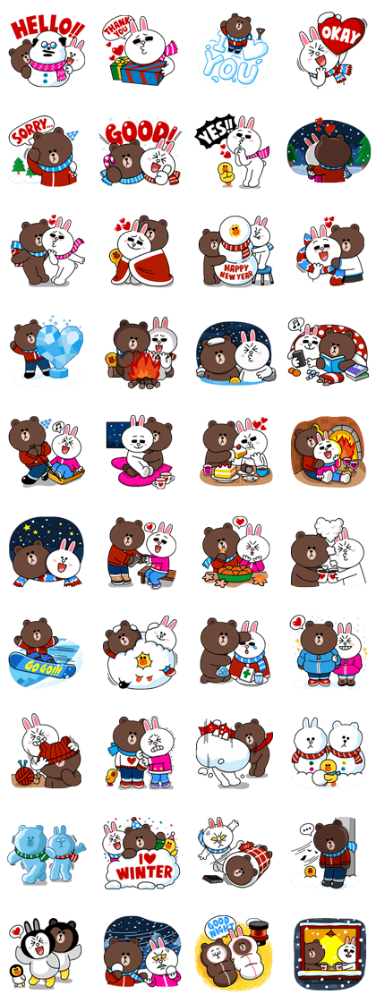 Brown Amp Cony S Cozy Winter Date Line Sticker Rumors City