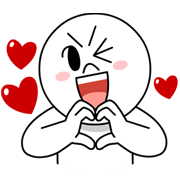 LINE Characters in Love! Line Sticker - Rumors City
