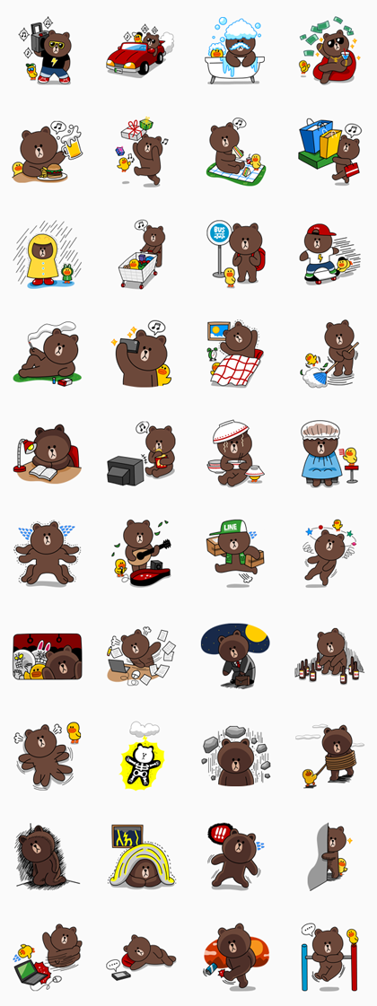 Brown : Special Edition(TrueMoney Only) Line Sticker ...