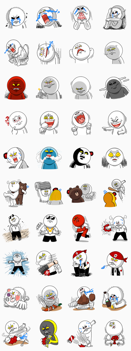The gallery for --> Line Stickers Moon Special Edition