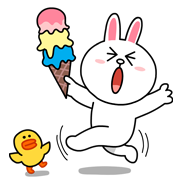 Cony: Special Edition Line Sticker - Rumors City